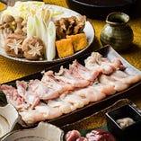 名古屋コーチンを使ったコク深い鍋料理はコースでも味わえます