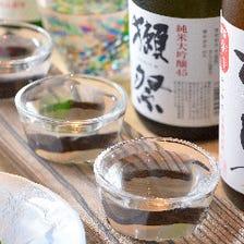 日本酒は常時10種ご用意。