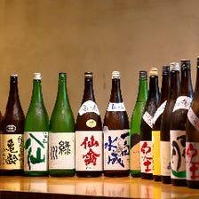 常時10種類以上の日本酒