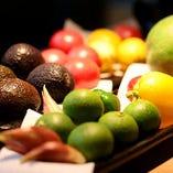 季節の野菜を使用した旬のお料理をご提供します