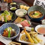 旬の食材を使用した店主こだわりの和食をコースでお楽しみいただけます。3,000円(税抜)~