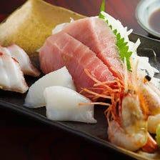 【限定6食】朝採れ新鮮 旬の刺身四種盛り