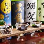 厳選した日本酒を6種、売り切れ次第入れ替えております