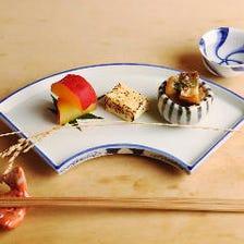 四季折々の食材と新鮮な魚介を堪能。