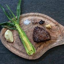 メイン「ニュージーランド産牛フィレ肉のステーキ」+「選べるサイドメニュー」