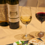 ワインは前菜からメイン料理まで、ペアリングも対応させていただきます。