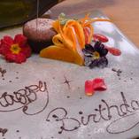 記念日やお誕生日に♪ご注文いただいたデザートを無料でアレンジ