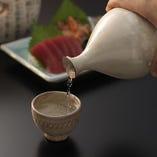 日本酒と刺身で一杯♪