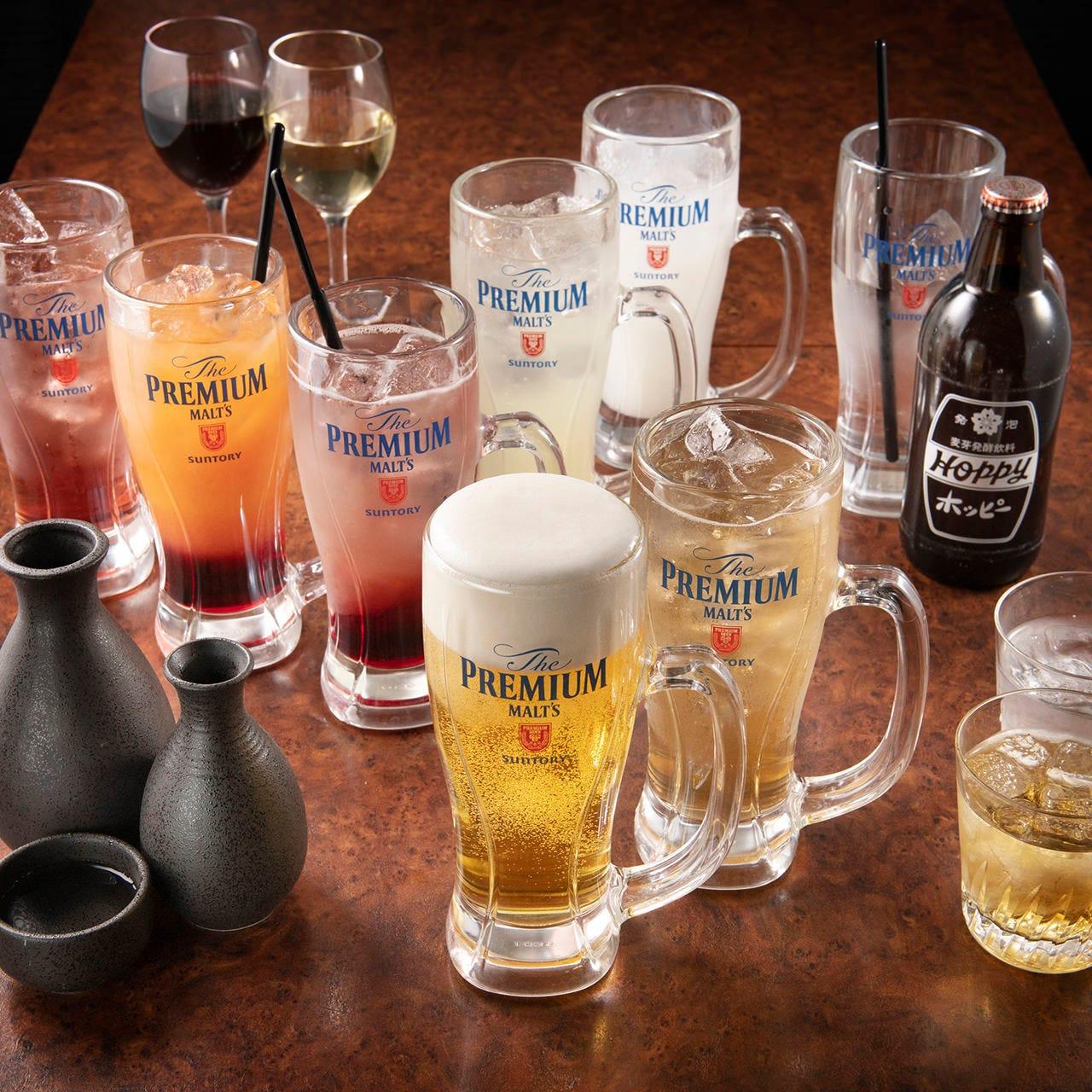 単品飲み放題OK!ビールにサワー、ハイボールなど種類豊富