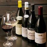 ワインは料理に合わせて大将の友人であるソムリエが厳選したもの。和食とワインとのマリアージュをぜひお試しください。