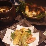 松茸ご飯、松茸天ぷら