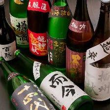 兵庫の地酒と各地の銘酒を20種ほど