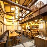 大正から昭和初期にかけて造られた建物は天井が高く、さらに情緒たっぷり◎