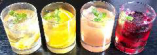ヘルシー(ビネガー)酒サワー(ローズヒップ・グレープフルーツ・みかん・マンゴー)
