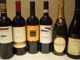 ワインも豊富!