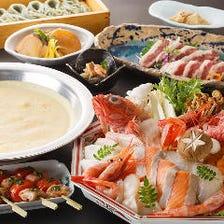 【お料理のみ】贅沢三昧!特製ウニスープの至福の鍋を味わう 北海ウニしゃぶコース/全6品 5,000円