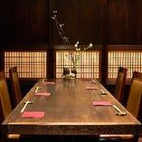 【完全個室】6名様掛けのテーブル個室席
