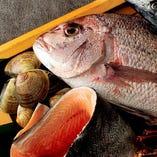 四季折々の鮮魚や野菜、ハーブ類まで。旬の味覚をご堪能ください