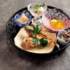 【平日利用で特典付き!】鮎のしゃぶしゃぶや旬の食材がいっぱい詰まった八寸など『旬彩~SHUN-SAI~』