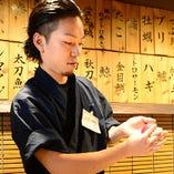 寿司屋で修業を積んだ職人が握る本格的な握り寿司