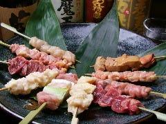 ◆淡海地鶏焼鳥盛り合わせ