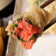 明太子を紫蘇で巻いた、明太子の天ぷらは焼酎に合います