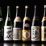 旬の銘柄地酒も7~10種類程やオリジナルラベルの地酒もご用意