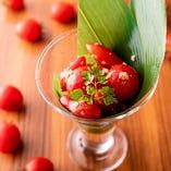 味はもちろん、見た目が美しい「冷やしプチトマトマリネ」