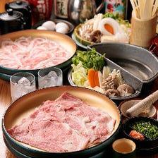 【2H食べ放題】上牛肉か国産豚を選択「すきしゃぶ・食べ放題プラン」(全3品)各種宴会・食事会