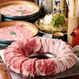 【2H食べ放題】ロース牛か豚肉を選択 「なべやの鍋・食べ放題プラン」 (全3品)各種宴会・食事会