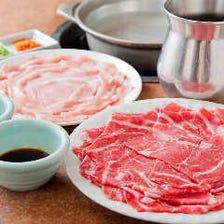 【上しゃぶしゃぶ食べ放題】牛&豚&鶏が食べられるサイドメニュー充実〈27品〉各種宴会 飲み会