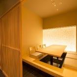 6名様個室 「接待・宴会・お食事会」に抜群の完全個室 足を伸ばせる堀炬燵