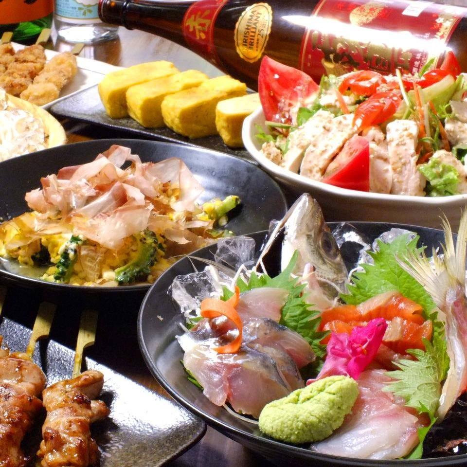 宴会コースは全て飲み放題付 クーポン利用でなんと500円引き
