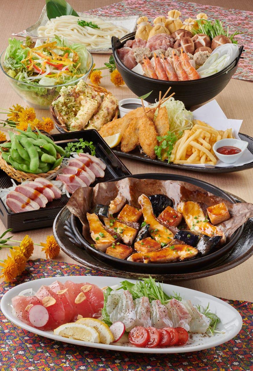 季節限定の旬料理や特別料理に舌鼓