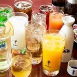 飲み放題メニューも豊富にご用意(飲み放題はコースご注文のお客様に限ります。)