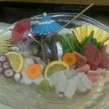 新鮮な魚介を使用しています!
