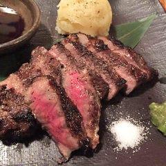 牛ハネシタのわら焼きステーキ