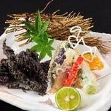 糸島野菜と呼子槍烏賊の天ぷ羅