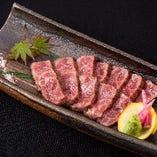 九州黒毛和牛の藁焼き