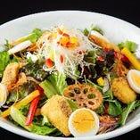 福岡糸島野菜の彩りサラダ