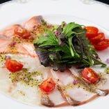 新鮮 活魚炙りカルパッチョ