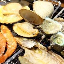 40~50種の絶品海鮮BBQが食べ放題!