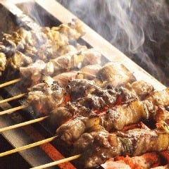 薩摩地鶏の串焼き各種-その1