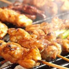 薩摩地鶏の串焼き各種-その2