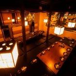 【30名様~】最大120名様までご案内可能なエリア最大級の宴会スペース