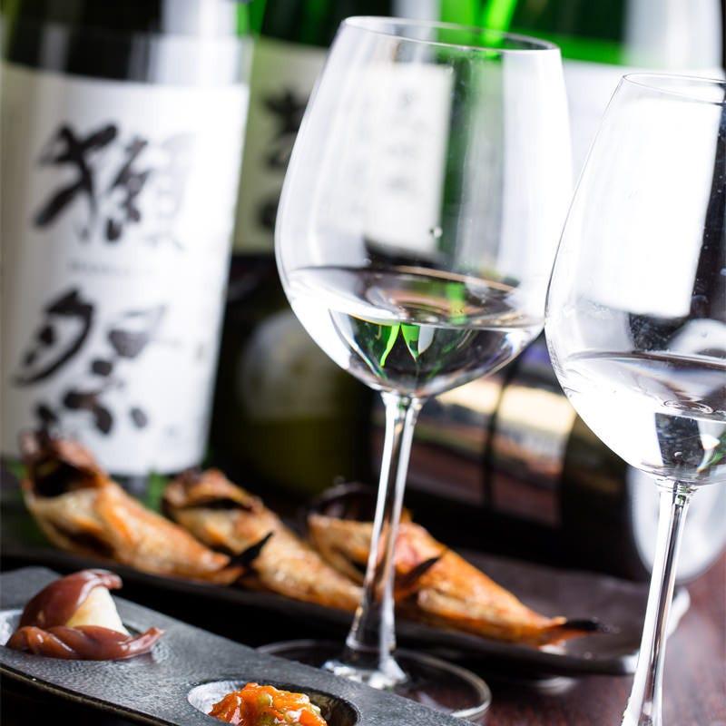 日本酒ワイン計60種類以上!!獺祭アリマス