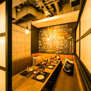 個室 デザインフードマーケット 新橋店 店内の画像