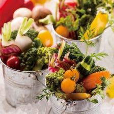 【盛り放題バーニャカウダー】栄養たっぷりの有機野菜は常時10種類以上