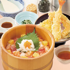 海の彩りおひつ天ぷらセット