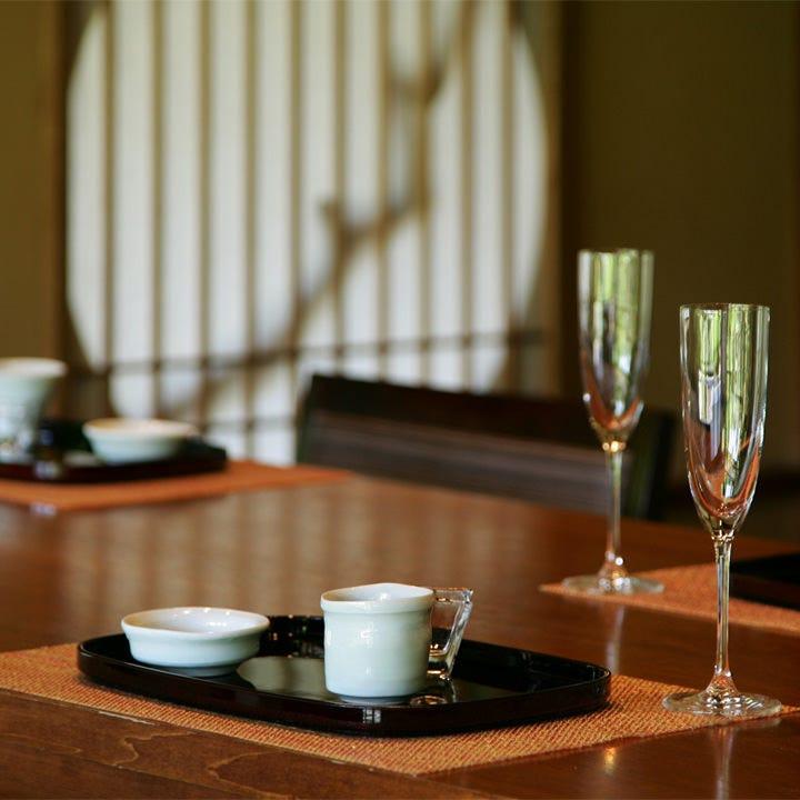 シェフお任せの特別会席コース 10,000円(税抜)お祝いプランへの変更可